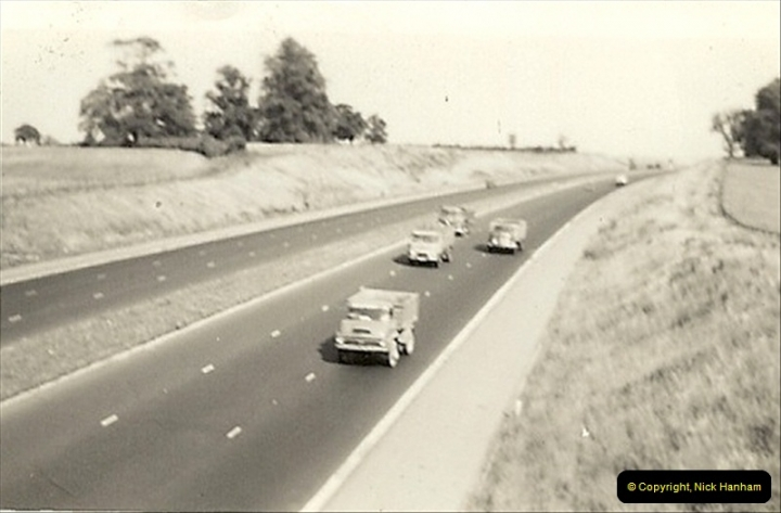 1960 (2) The, then new, M1 Motorway. Very crowded !024