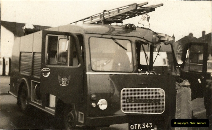 1960 (5) Bedford Fire Engine in trouble Ringwood Road, Parkstone, Dorset. 027