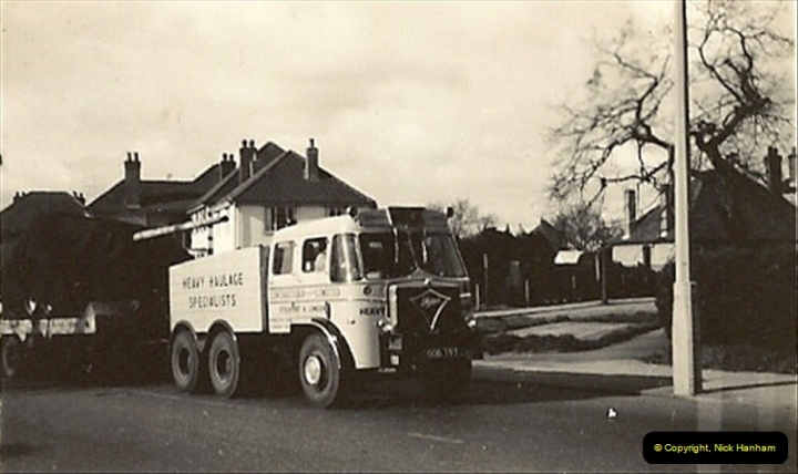 1961. Heavy Haulage Foden of Becks with tank in Ringwood Road, Poole, Dorset.039