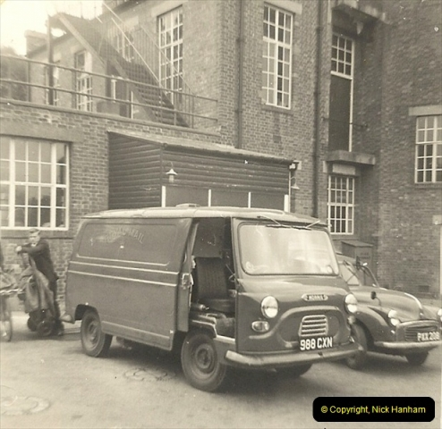 1963 (12) GPO Parkstone Sorting Office. After passing my driving test I drove this Morris J4 many, many miles.061