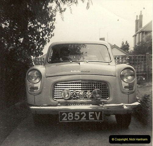 1963 (3) Your Host's first car a Ford Anglia 2852 EV. 052