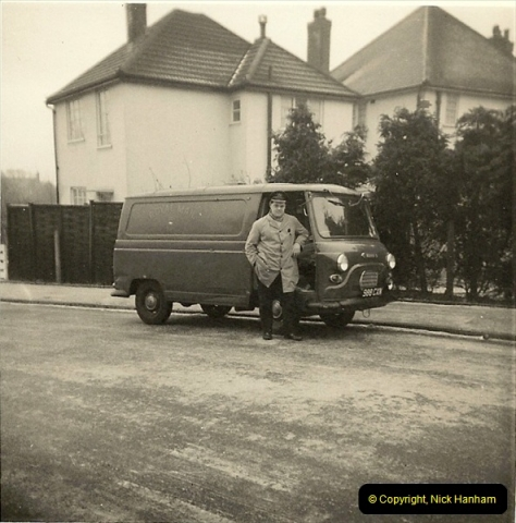 1964-02-20. Your Host driving for Royal Mail @ Parkstone, Poole, Dorset. (3)141