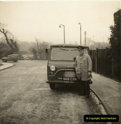 1964-02-20. Your Host driving for Royal Mail @ Parkstone, Poole, Dorset. (4)142