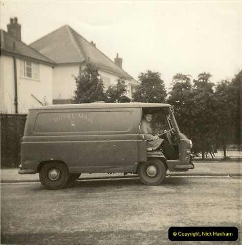 1964-02-20. Your Host driving for Royal Mail @ Parkstone, Poole, Dorset. (5)143
