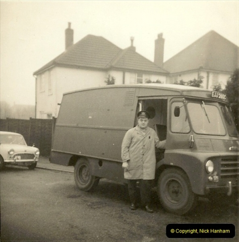 1964-02-20. Your Host driving for Royal Mail @ Parkstone, Poole, Dorset. (8)146