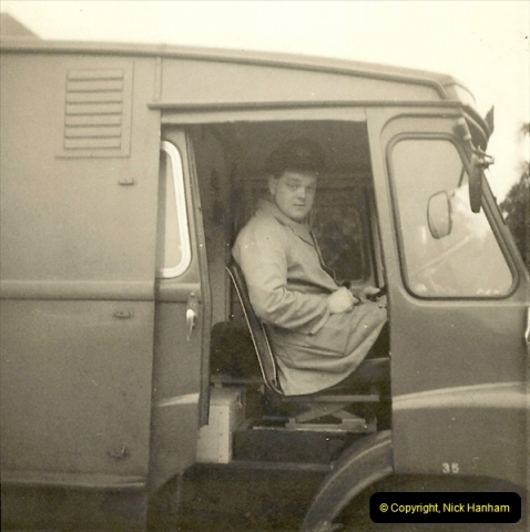 1964-02-20. Your Host driving for Royal Mail @ Parkstone, Poole, Dorset. (9)147