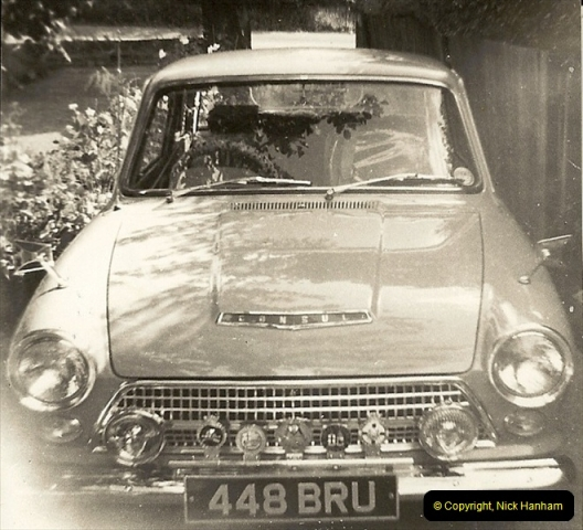1964 (1) Your Host's second car a Ford Cortina Mark 1. 448 BRU.148