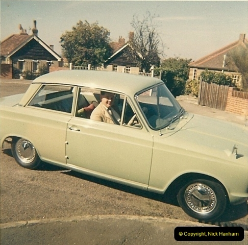 1964. Your Host with his second car. Poole, Dorset.180
