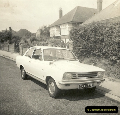 1967 (10) Your Host's late Mother's second car a Vauxhall Viva mark 2. GFX 177E211
