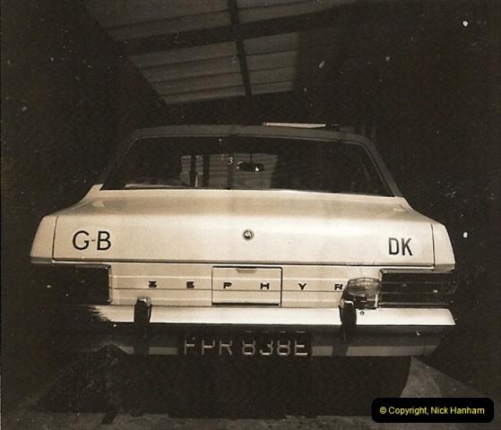 1967 (6) Your Host's Fourth car a Ford Zephyr Mark 3. FPR 838E207