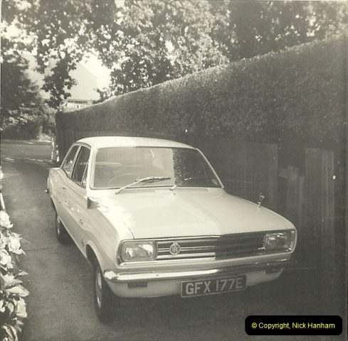1967 (8) Your Host's late Mother's second car a Vauxhall Viva mark 2. GFX 177E209