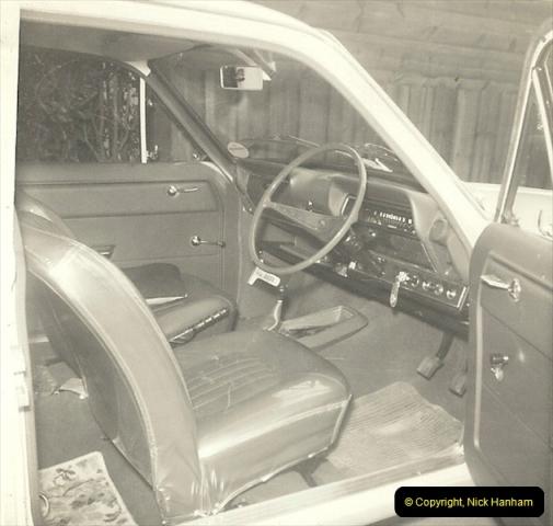 1967 (9) Your Host's late Mother's second car a Vauxhall Viva mark 2. GFX 177E210