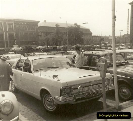 1967. Your Host with car number four in Copenhagen, Denmark.213