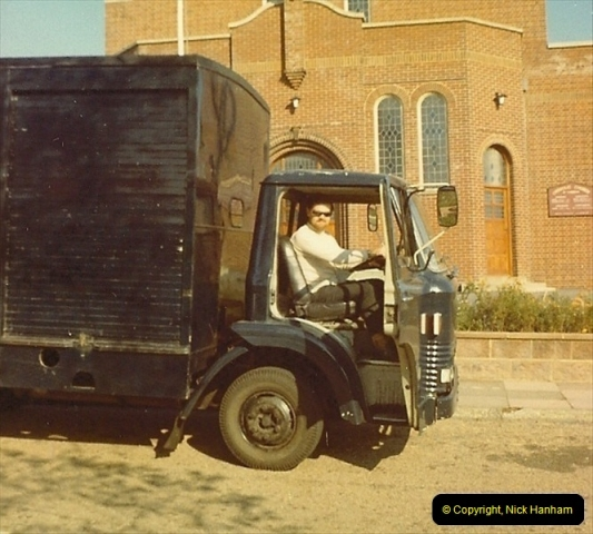 1968. Your Host doing odd jobs for the family. Poole, Dorset (1)221