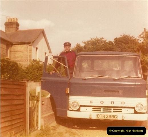 1968. Your Host doing odd jobs for the family. Poole, Dorset (2)222