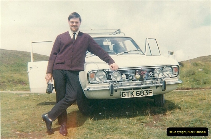 1968. Your Host with car number 5 touring Harris & Lewis, Scotland.223