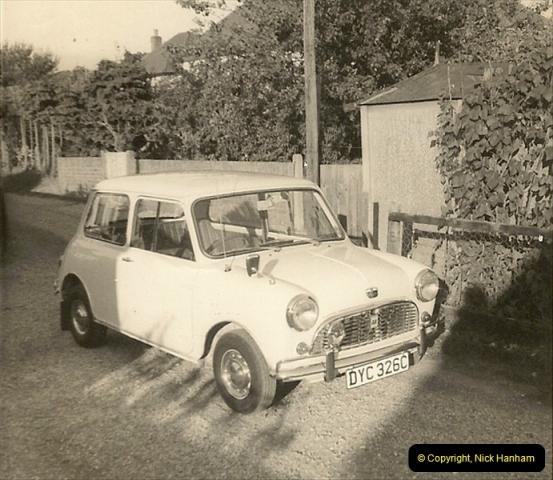 1969 (1) My Girl Friend's (Now my Wife) first car a proper Mini. DYC326C224