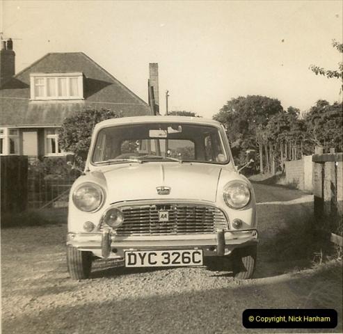 1969 (3) My Girl Friend's (Now my Wife) first car a proper Mini. DYC326C226