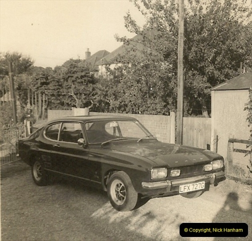 1969 (5) Your Host's Ford Capri GTX. This was one of the first Capries in Poole & Bournemouth area.228