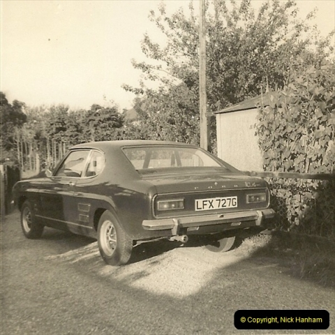 1969 (7) Your Host's Ford Capri GTX. This was one of the first Capries in Poole & Bournemouth area.230
