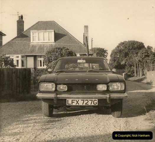 1969 (8) Your Host's Ford Capri GTX. This was one of the first Capries in Poole & Bournemouth area.231