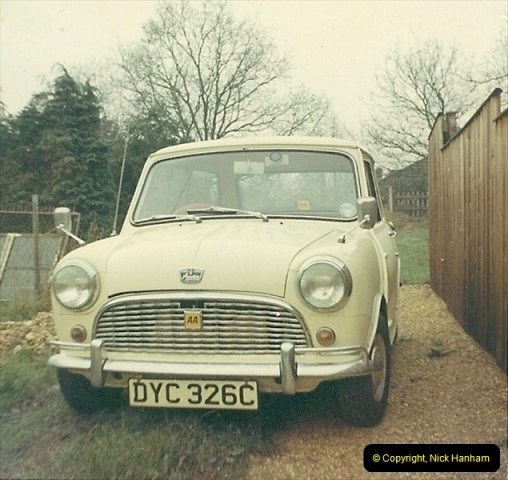 1971. Your Host's wife to be first car. Poole, Dorset.236