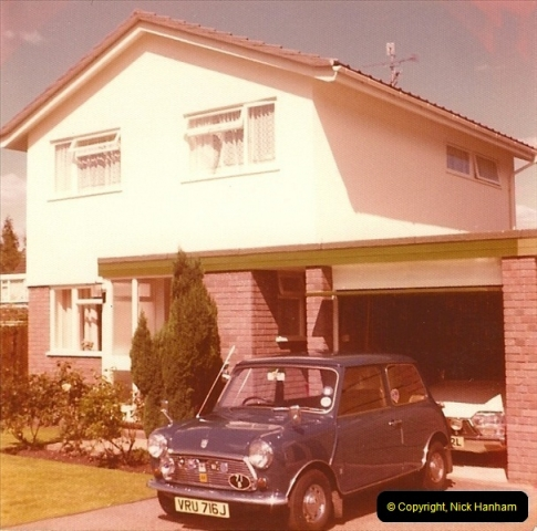 1977-08. Your Host's wife second car. Poole, Dorset.244