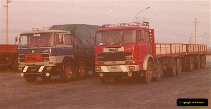 1978 (2) Near Tarvisio, Northern Italy. Note the vehicles are mostly right hand drive for mountain roads249