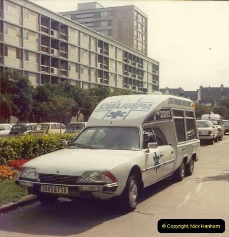 1979 (5) Le Havre, France. 6 wheel Citroen ambulance.258