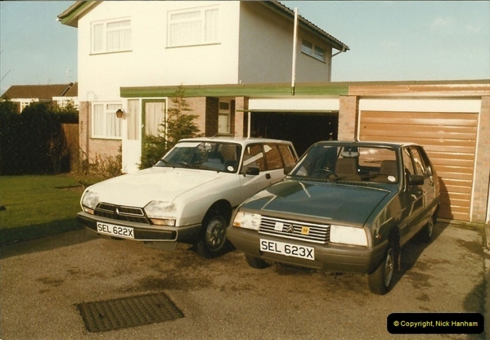 1983-09. More of our cars. Poole, Dorset.  (2)283