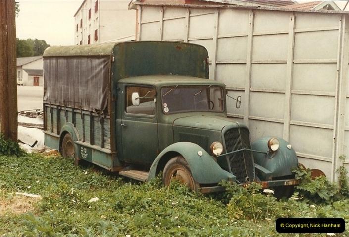 1984 (5) Citroen light commercial near Morlaix, France.307