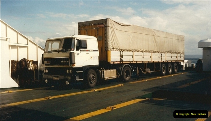 1987-07-17 On board the Cournouailles from Cherbourg to Poole. (1)382