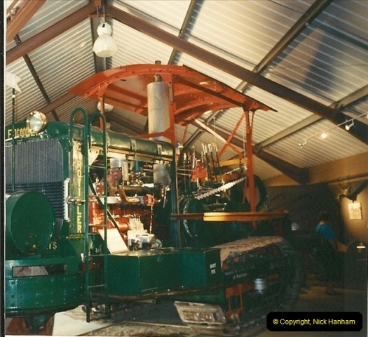 1992-06-14. Stapehill Abbey, Dorset. One of largest tractors ever built. Gyrotiller.526