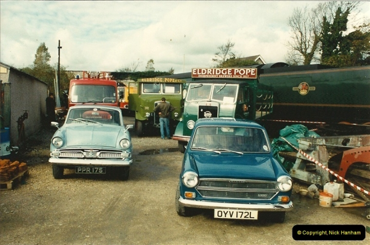 1993-10-09 A vintage vehicle event your Host arranged for the Swanage Railway, Swanage, Dorset.  (16)571