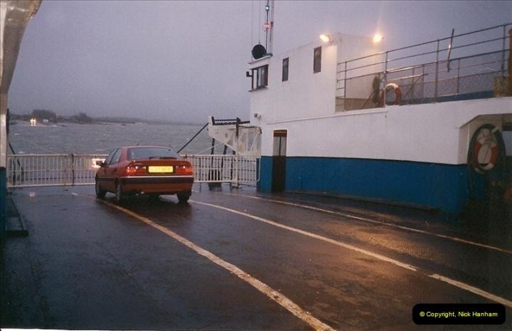 1993-12-19. On the ferry Sandbanks, Poole, Dorset.579