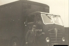 1958 (1) Your Host by my late Stepfather's BRS Foden FG near Gillingham, Dorset.006