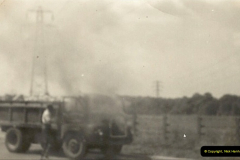 1959 (7) Bedford 'S' Type on fire near Bedford, Bedfordshire. 022