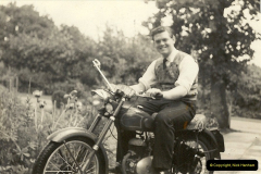 1960. Your Host on his Excelsior Motos Cycle. Poole, Dorset.031