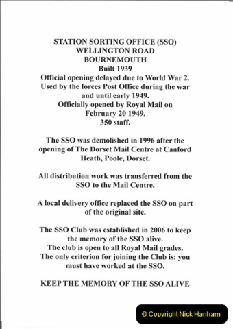 1961 to 2000 Royal Mail mostly Bournemouth & Poole. Your Host & MANY good friends.  (1A)022