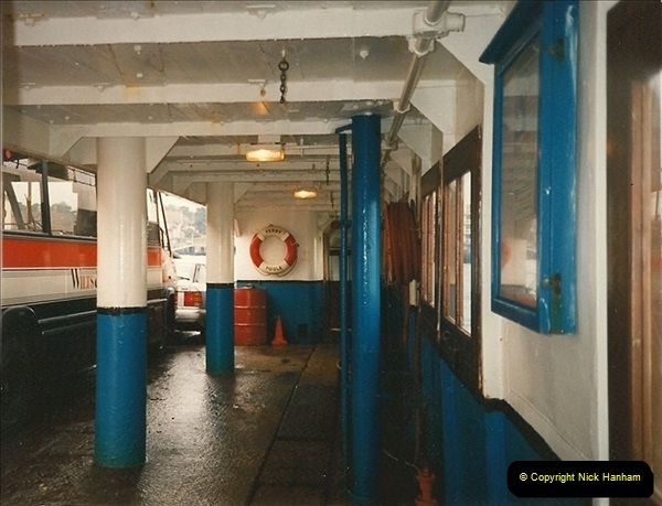 1994 January. Ferry No. 3 last days. The Haven, Poole, Dorset.  (10)280