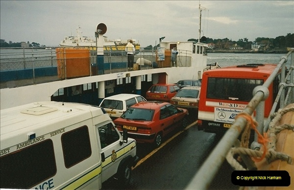 1994 January. Ferry No. 3 last days. The haven, Poole, Dorset.  (9)279