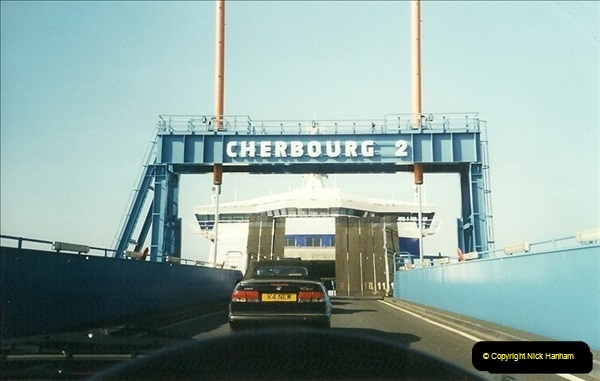 1999-07-25. Leaving Cherbourg, France.  (2)463