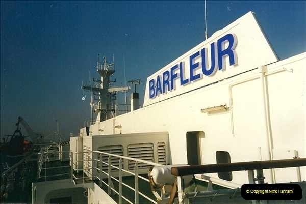 1999-07-25. Leaving Cherbourg, France.  (3)464