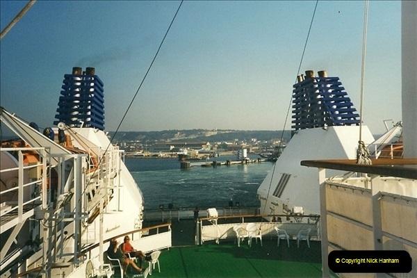 1999-07-25. Leaving Cherbourg, France.  (4)465