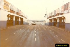1982-12. Only car on the ferry. Sandbanks, Poole, Dorset.058
