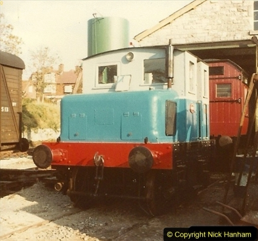 1981 SR Hibberd-Planet 'Beryl' our first locomotive. Interesting to drive a crash gearbox petrol - paraffin engine with only a hand brake. 008