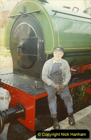 1990-04-01 Your Host driving Whiston on a Santa and Thomas the Tank engine Special. Well it was April the first! (1) 107