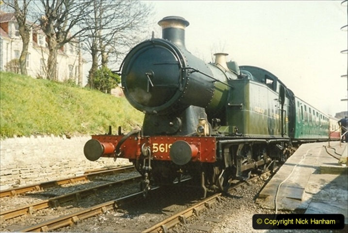 1990-04-16 Your Host driving 5619. This was a very powerful loco and steamed well. 111