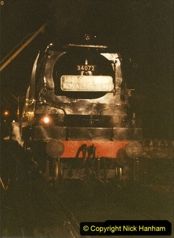 1990-11-17 Your Host's first driving turn on 34072 at Swanage. (2) 135