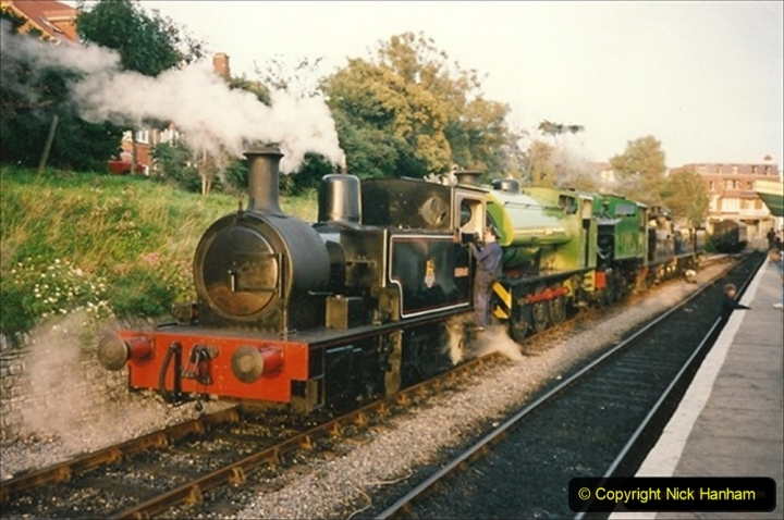 1992-09-20 The SR Steam Gala cavalcade with your Host driving the M7. 168